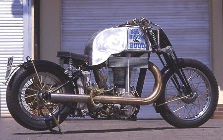 Motorrad Mit Panzermotor