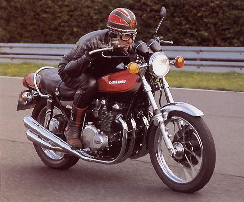 Franz FJS Schermer Auf Der Legendaren Kawasaki Z900 Z1 Von 1973
