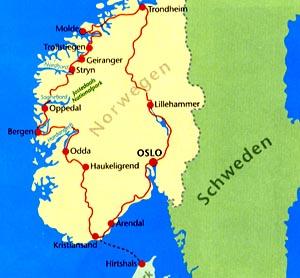 Karte Südnorwegen.Motorradtour Norwegen Ein Bericht Von Ingo Gach